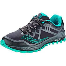 saucony Peregrine 8 GTX Shoes Women, black/grey/blue
